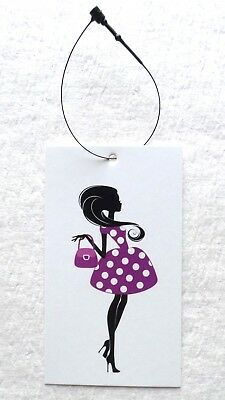 100 HANG TAG Boutique Tags Price Tags Cute Fashion Girl Retail Tags Plastic  Loop