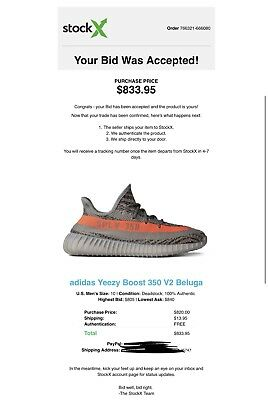 check out a1476 6bc6c ADIDAS YEEZY BOOST 350 V2 Beluga BB1826 size 10.5 100 ...
