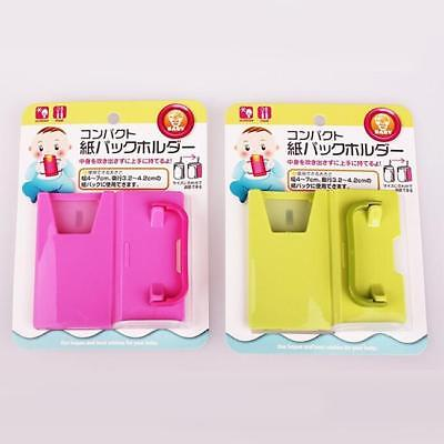 Adjustable Juice Milk Box Drinking Cup Holder Toddler Self-Helper Baby Stand WE