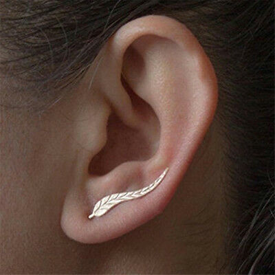 Ear Clip Cuff Leaf Earring Wrap Women Earrings Punk Stud Fashion Piercing