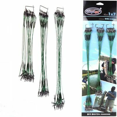 Wire Leader Traces Soft Lures Perch Pike Sea Coarse Fishing Hook