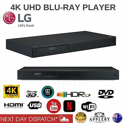 LG Ultra HD 4K Blu Ray Player HDR10 UHD Disc USB WiFi Bluray DVD 3D