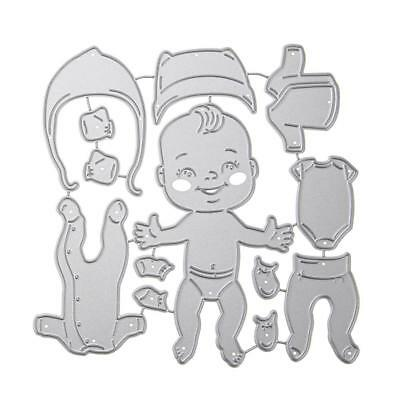 Baby Clothes Cutting Dies Stencils Scrapbook Embossing DIY Craft Album Card Gift