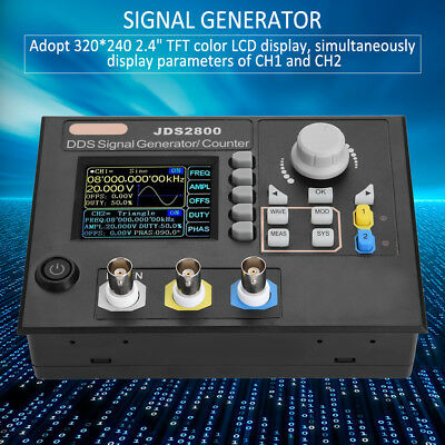 JDS2800. 15/40/60MHz DDS Function Arbitrary waveform Signal Generator + Software