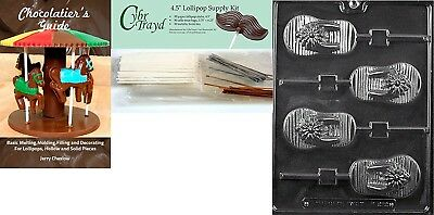 """Cybrtrayd """"Flip-Flop Lolly"""" Chocolate Mould with Chocolatier's Bundle,"""