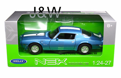 Welly Pontiac Firebird Trans Am 1972 Blau 24075W-BL 1/24
