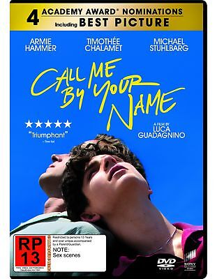 Call Me By Your Name  [Region 4] - DVD - New - Free Shipping.