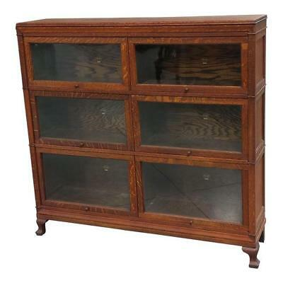 Macey Antique Oak Double Barrister Lawyer Bookcase c.1900