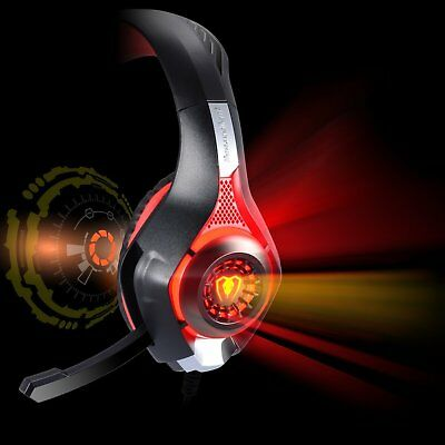 Wired Gaming Headset Headphone for PS4 Xbox One X MAC Laptop Bass Stereo Mic UK
