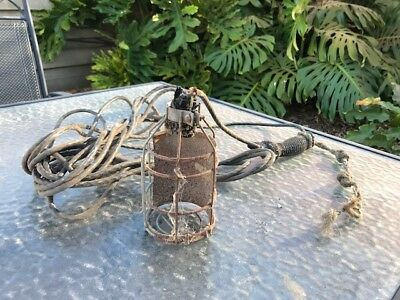 Vintage Rustic Authentic Industrial Cage Light