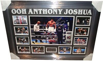 Anthony Joshua SIGNED AUTOGRAPH Boxing World Champion AFTAL UACC RD
