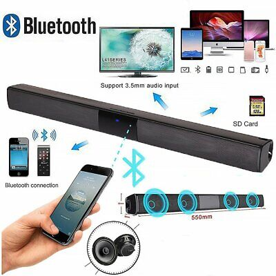 BS28B Wireless Bluetooth 4 Speaker TV Home Theater Soundbar Subwoofer with RCA