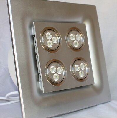Ecorini - Exhaust Fan with 12W  LED Light - SILVER