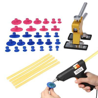 Car Body Dent Remover Repair Puller Kit+110-240V 40W Hot Melt Glue Gun Tool