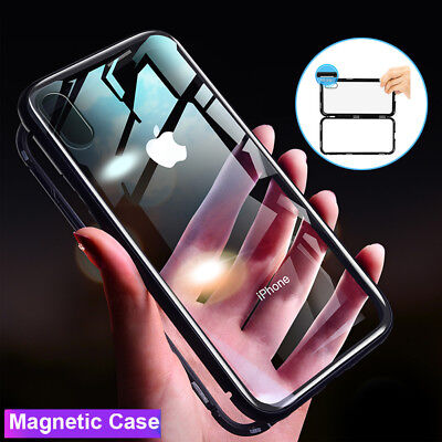 360° Full Protective Cover Magnetic Case for iPhone 5 5s SE+Tempered Glass Film