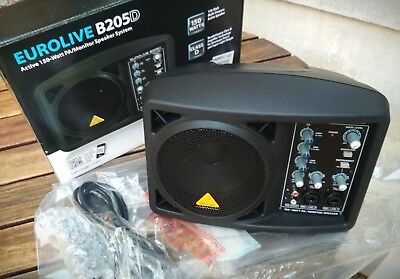 FREE SHIPPING NEW Behringer B205D Eurolive 150W Active Powered Portable Monitor