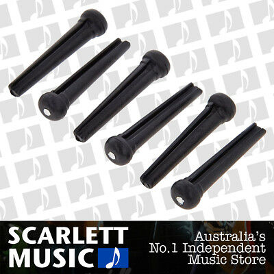 6 X Guitar Bridge Pins Bridge Pins String End Peg Acoustic Guitar ( Black )