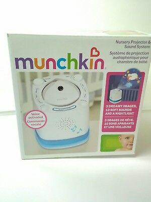 Nursery Voice Activated Sleep Projector Sound System Baby Soother Munchkin