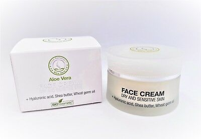 Face Cream 100% Organic Aloe Vera For Dry&sensitive Skin Regenerates Moisturises
