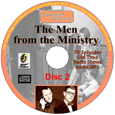 The Men From the Ministry 141 Old Time Comedy Radio Shows OTR Audio MP3 on 2 CDs