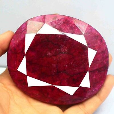 2375 Ct EGL Certified Finest Quality Natural Oval Cut Red Ruby Gemstone BZ789