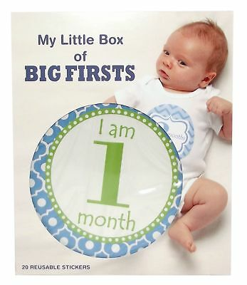 My Little Box Of Firsts Milestone Stickers Blue New