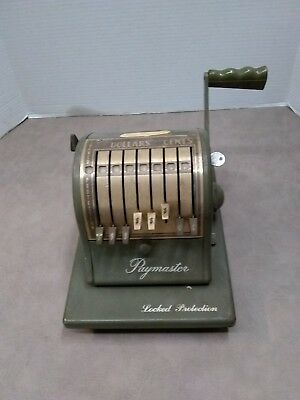 Antique Paymaster, locked protection, series S-1000, with key