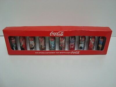 Coca Cola The 100 Years of Bottles Set With 10 Mini Aluminum Bottles
