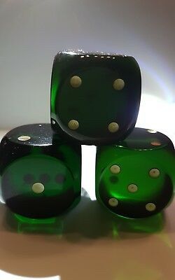 3,4 cm Old Bakelit Faturan German dice cubes glittery