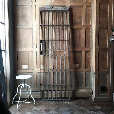 Antique Jail Cell Door, Prison Cell Steel Gate, Joliet Illinois Penitentiary