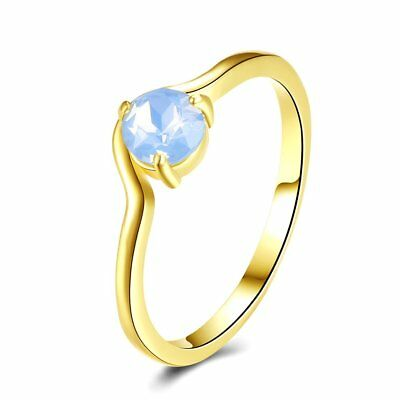 Stylish Women Copper Rings Charming Female Ladies Engagement Wedding Ring RB