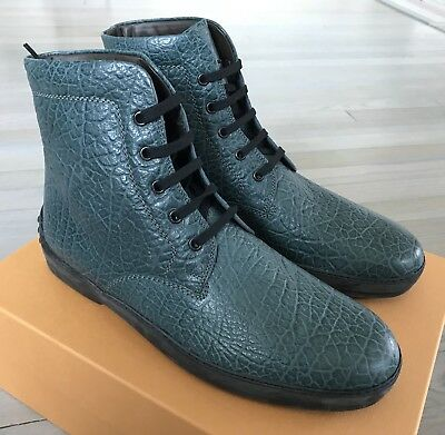 531d1e21c57 600$ Tod's Polacco Occhielli Green Leather Ankle Boots Size US 10 Made in  Italy