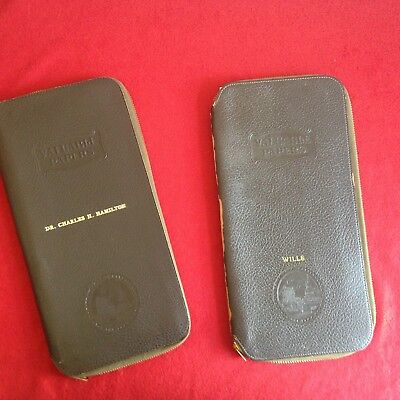 Vintage Collectibles - Penn Mutual 1960 Leather Document Organizers - Qty 2