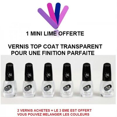 Vernis A Ongle Transparent Top Coat Brillant Xxl 15 Ml Ver073