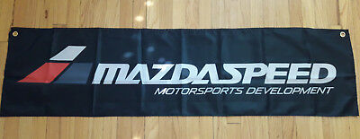 Mazda Speed Flag Garage Automotive Man Cave Wall Banner 59X15 inches