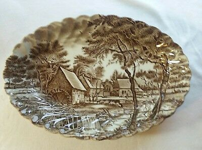 Johnson Brothers WATERMILL Small 8 inch Oval Relish/Gravy Underplate Dish