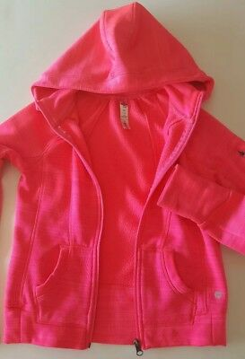 Youth Girls 90 Degree By Reflex Hooded Jacket Color Pink Size Medium