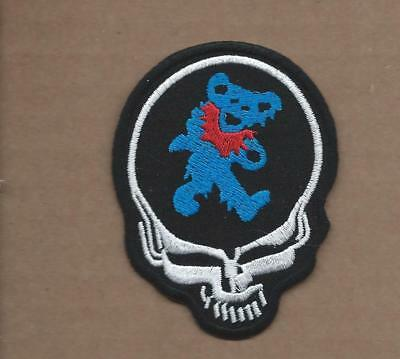New 2 3/8 X 3 1/8 Inch Grateful Dead Iron On Patch Free Shipping