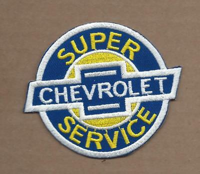 New 3 X 3 1/2 Inch Chevrolet Super Service Iron On Patch Free Shipping