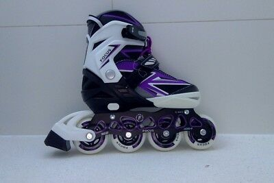 AS NEW!  Kids Softec BladeX Focus Adjust rollerblades sz 3-6 PICK UP THORNBURY