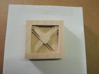 1 New Unfinished Solid Maple Wood Block~Hardware~Wookworking~Crafts~#47