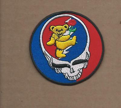 New 3 Inch Grateful Dead Iron On Patch Free Shipping