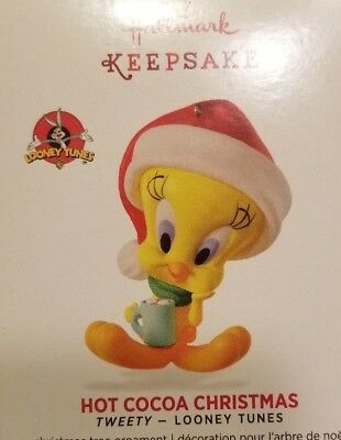 New 2016 Hallmark HOT COCOA CHRISTMAS Looney Tunes TWEETY bird dated ORNAMENT