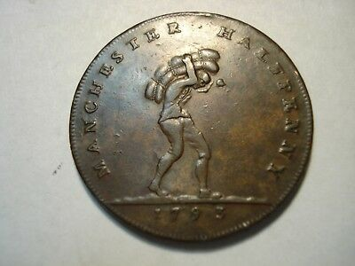 Conder  Token 1/2 P    1793   Lancashire   E;payable At Birmingham Et.al