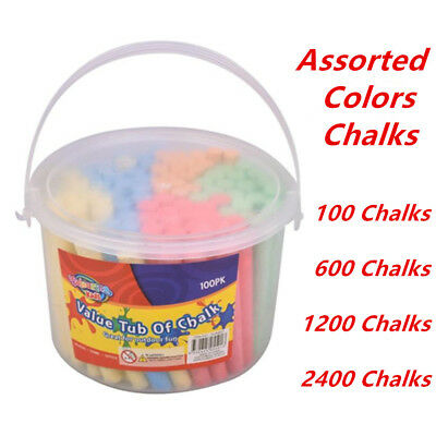Colored Chalk Sticks Kid Entertainment Craft Blackboard Pavement Washable WMCV