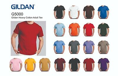 5000 GILDAN Heavy Duty Cotton Tee - Blank Shirts
