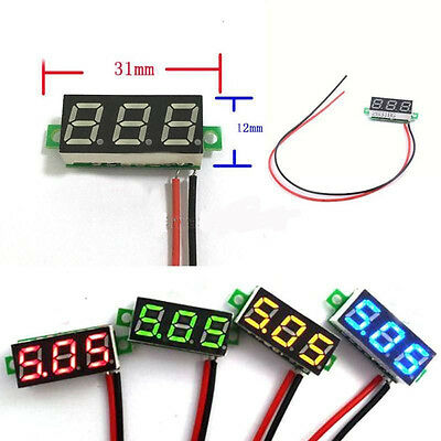 "Hot Sell Mini 0.28"" DC Digital Voltmeter Panel Mount LED Volt meter Red 2.50~30V"