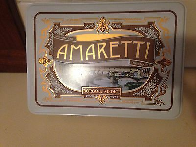 Collectible Amaretti biscuit tin. Borgo De' Medici Florence made in Italy