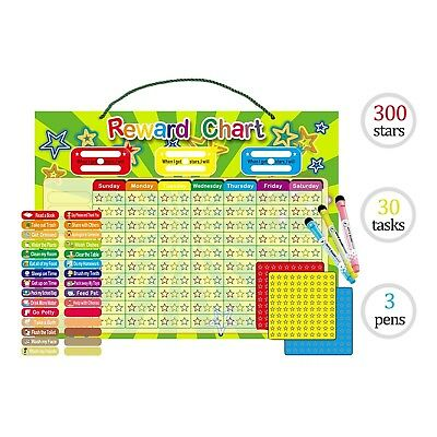 Magnetic Dry Erase Daily Chore Chart For Kids And Teens With 2