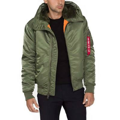 6ff9773cd ALPHA INDUSTRIES MENS MA-1 Hooded Flight Bomber Jacket Faux Fur-Lined Hood